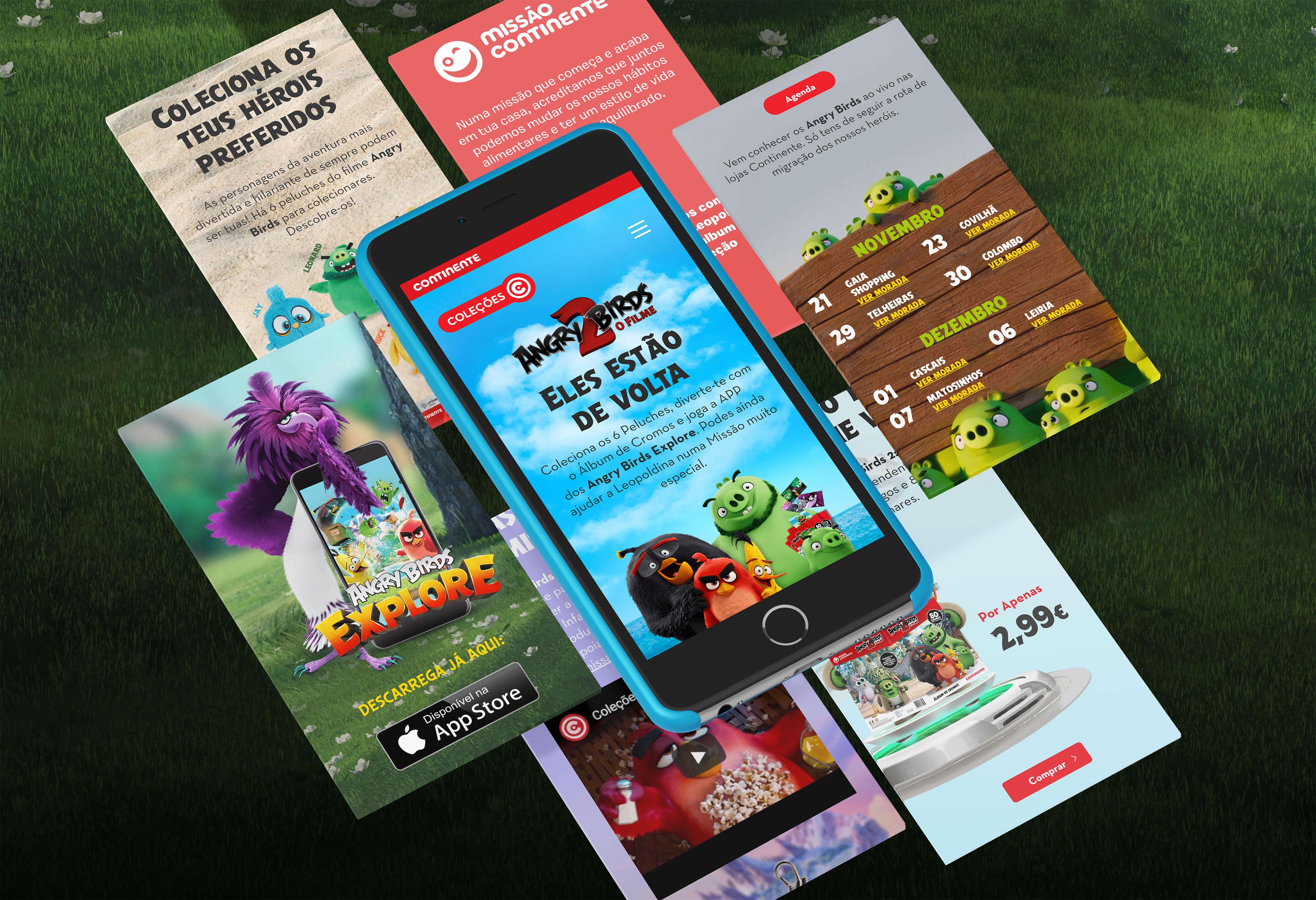 Continente | Angry Birds - Campanha de Fidelização em mobile